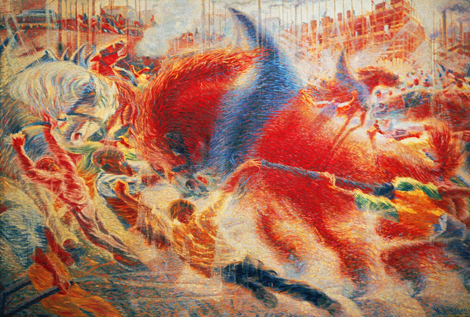 an analysis of dynamism of a soccer player by umberto boccioni in the museum of modern art Umberto boccioni - dynamism of a soccer player (1913)  umberto boccioni - synthesis of human  if there are better places to find art history analysis than khan .